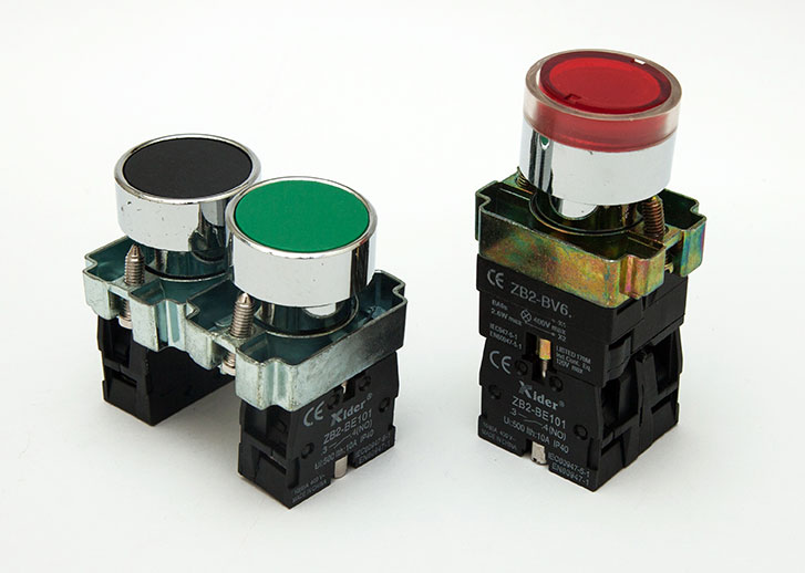 Push Button with Spare NO/NC Block